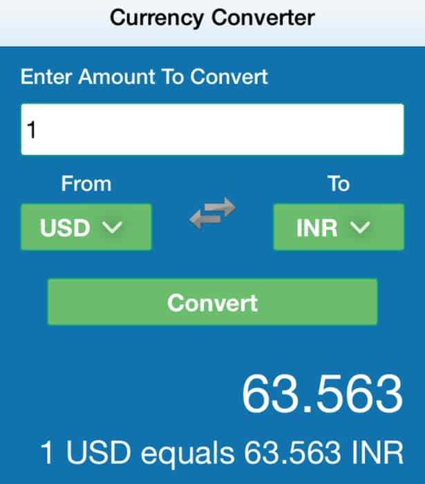 Currencyconverter Reactjs Example