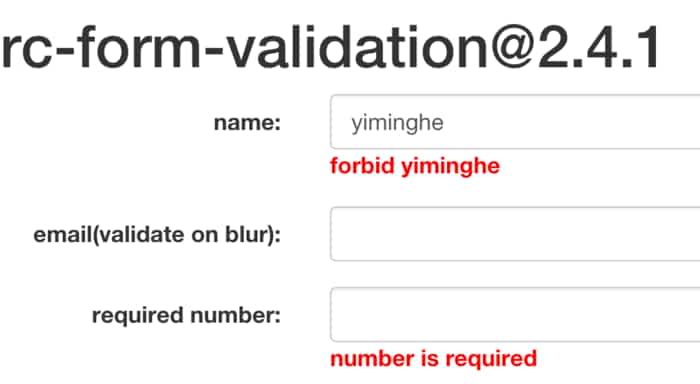 form-validation - ReactJS Example