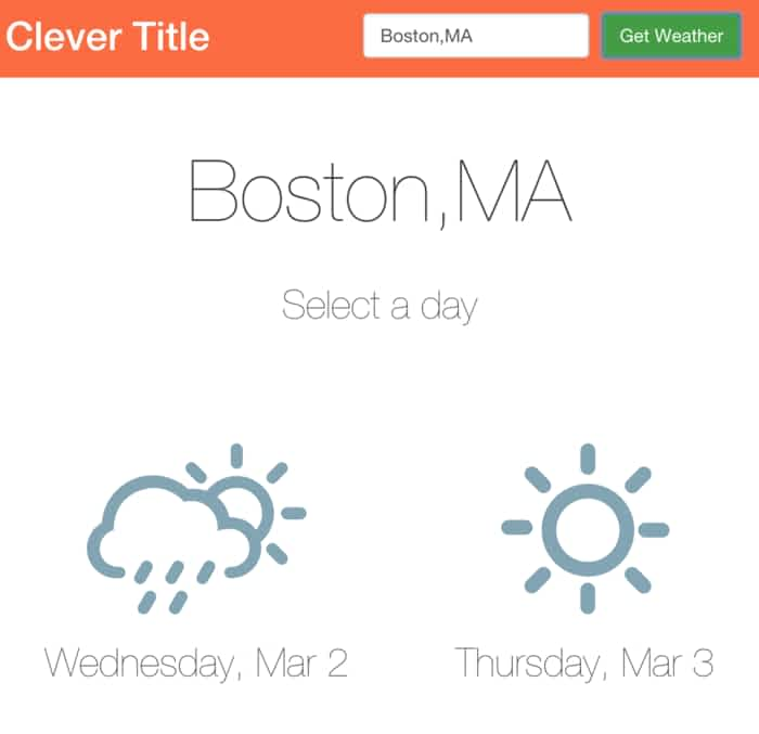 9 Weather Examples with ReactJS