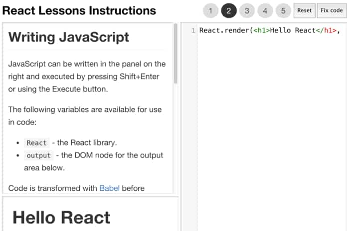 25 SyntaxHilighter Examples with ReactJS
