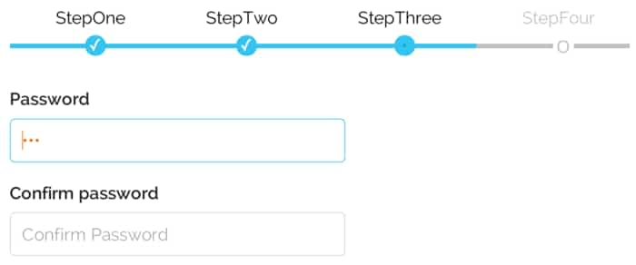 react-multistep: Multi-step form component (wizard)  Nicely done CSS