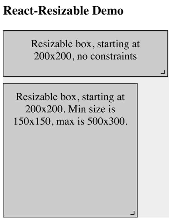 13 Resize Examples with ReactJS