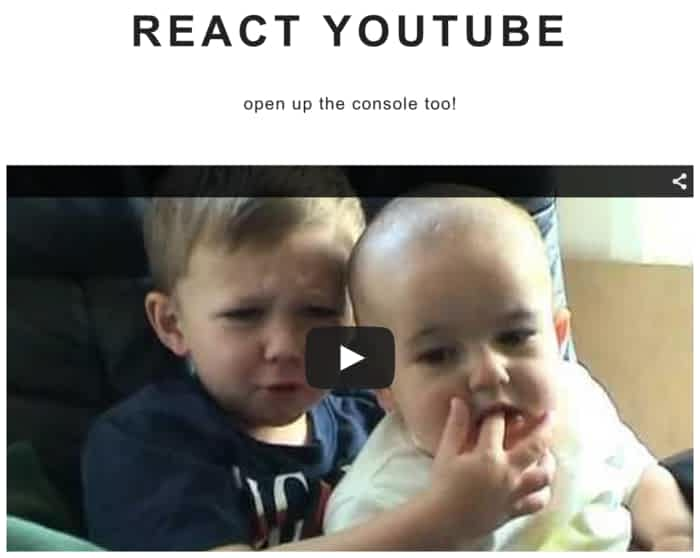 Simple React component acting as a thin layer over the YouTube JS